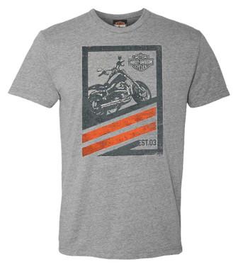 Harley-Davidson Men's Invest in Fun Short Sleeve Crew-Neck Graphic Tee - Gray - Wisconsin Harley-Davidson