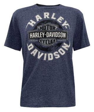 Harley-Davidson Men's Endless Journey Short Sleeve Crew-Neck Graphic Tee - Blue - Wisconsin Harley-Davidson