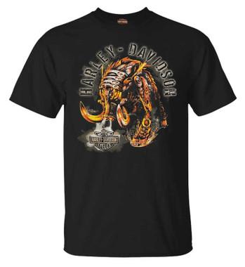 Harley-Davidson Men's Fantasy Chrome Crew-Neck Short Sleeve Graphic Tee, Black - Wisconsin Harley-Davidson