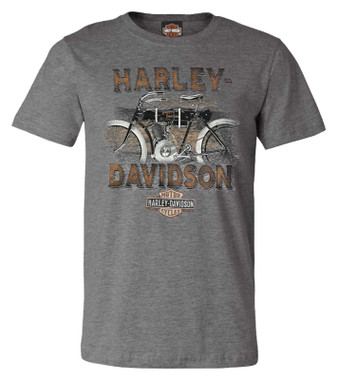 Harley-Davidson Men's Historic Pride Short Sleeve Crew-Neck Graphic Tee - Gray - Wisconsin Harley-Davidson