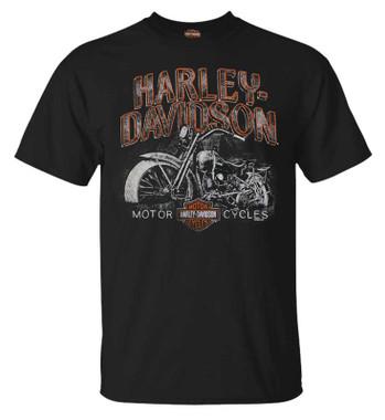 Harley-Davidson Men's Miles of Wisdom Short Sleeve Crew-Neck Graphic Tee, Black - Wisconsin Harley-Davidson