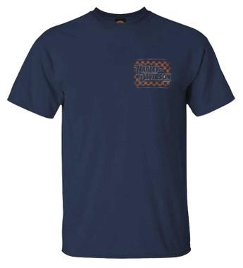 Harley-Davidson Men's Gear Down Short Sleeve Crew-Neck Graphic T-Shirt, Navy - Wisconsin Harley-Davidson