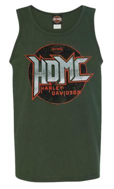 Harley-Davidson Men's Demo Ride HDMC Sleeveless Crew-Neck Muscle Tank, Green - Wisconsin Harley-Davidson