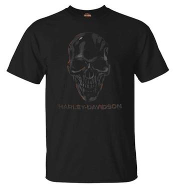Harley-Davidson Men's Skulls Honor Crew-Neck Short Sleeve T-Shirt, Black - Wisconsin Harley-Davidson