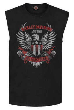 Harley-Davidson Men's Branded For Duty Sleeveless Crew-Neck Muscle Tank, Black - Wisconsin Harley-Davidson