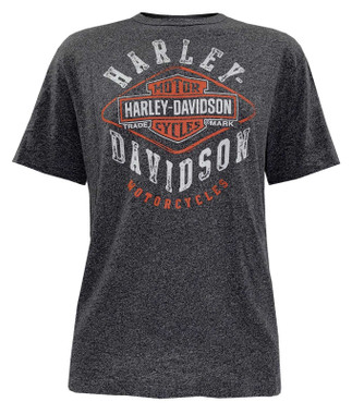 Harley-Davidson Men's Living the Life Short Sleeve Crew-Neck Graphic Tee - Gray - Wisconsin Harley-Davidson