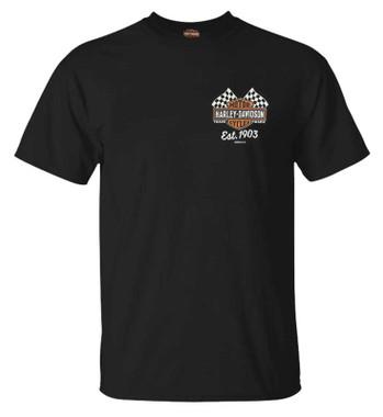 Harley-Davidson Men's Inspired B&S Crew-Neck Short Sleeve Graphic Tee - Black - Wisconsin Harley-Davidson