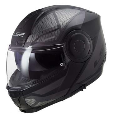 LS2 Helmets Horizon Axis Modular Motorcycle Sun-Shield Helmet, Black/Titanium - Wisconsin Harley-Davidson