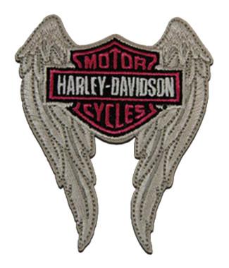Harley-Davidson 2 inch Embroidered Winged Bar & Shield Logo Emblem Sew-On Patch - Wisconsin Harley-Davidson