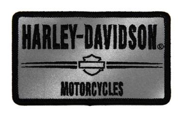Harley-Davidson 3in. Embroidered Reflective H-D Emblem Sew-On Patch - Gray/Black - Wisconsin Harley-Davidson