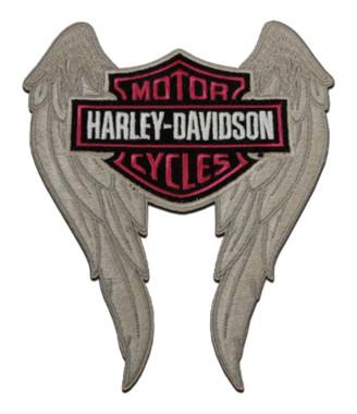 Harley-Davidson 5 in. Embroidered Winged Bar & Shield Logo Emblem Sew-On Patch - Wisconsin Harley-Davidson