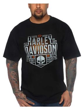 Harley-Davidson Men's Chrome Bones Crew-Neck Short Sleeve T-Shirt - Black - Wisconsin Harley-Davidson