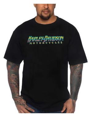 Harley-Davidson Men's Less Cage Short Sleeve Crew-Neck Cotton T-Shirt, Black - Wisconsin Harley-Davidson