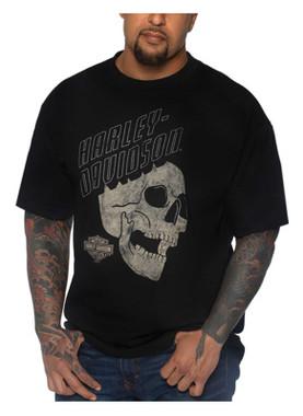Harley-Davidson Men's Flying Skull Short Sleeve Crew-Neck Cotton T-Shirt, Black - Wisconsin Harley-Davidson