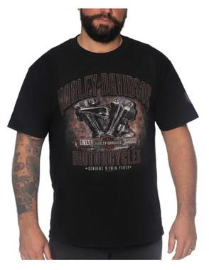 Harley-Davidson Men's Memorabilia Short Sleeve Crew-Neck Cotton T-Shirt, Black - Wisconsin Harley-Davidson