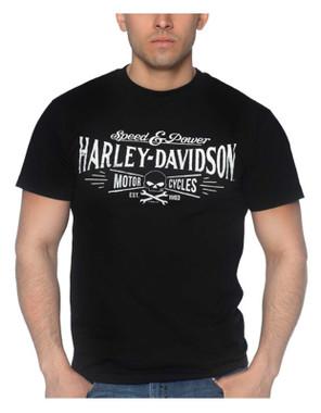 Harley-Davidson Men's Villain Legacy Short Sleeve Crew-Neck T-Shirt, Black - Wisconsin Harley-Davidson