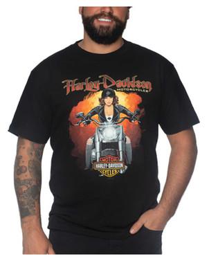 Harley-Davidson Men's Popular Short Sleeve Cotton Crew-Neck T-Shirt, Black - Wisconsin Harley-Davidson