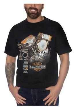 Harley-Davidson Men's Rusty Pan Short Sleeve Crew-Neck Cotton T-Shirt, Black - Wisconsin Harley-Davidson