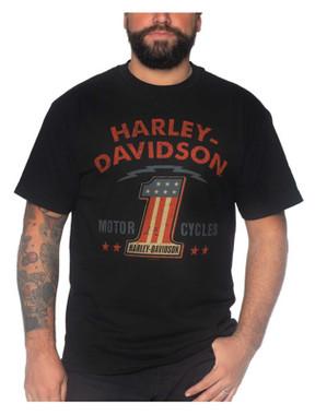 Harley-Davidson Men's Treaty Short Sleeve Crew-Neck Cotton T-Shirt - Black - Wisconsin Harley-Davidson