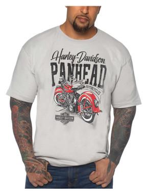Harley-Davidson Men's Backwards Crew-Neck Short Sleeve Cotton T-Shirt, Silver - Wisconsin Harley-Davidson