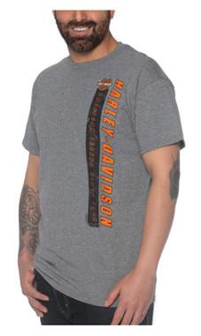 Harley-Davidson Men's Test H-D Short Sleeve Poly-Blend T-Shirt, Heather Gray - Wisconsin Harley-Davidson