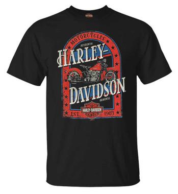 Harley-Davidson Men's Majestic Bike Short Sleeve Crew-Neck Cotton T-Shirt, Black - Wisconsin Harley-Davidson