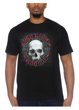 Harley-Davidson Men's Dark Flyer Short Sleeve Crew-Neck Cotton T-Shirt, Black - Wisconsin Harley-Davidson