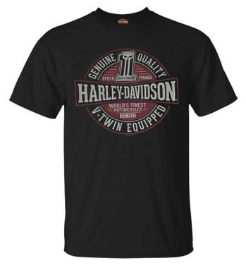 Harley-Davidson Men's Immortal #1 Skull Short Sleeve Crew-Neck Cotton T-Shirt - Wisconsin Harley-Davidson