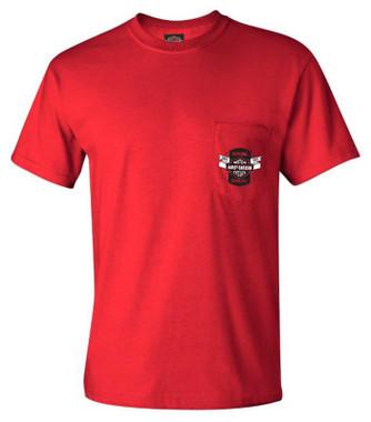 Harley-Davidson Men's Difference B&S Chest Pocket Short Sleeve T-Shirt - Red - Wisconsin Harley-Davidson