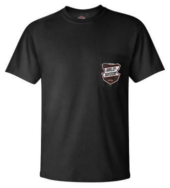Harley-Davidson Men's Slingshot Chest Pocket Short Sleeve Cotton T-Shirt - Black - Wisconsin Harley-Davidson