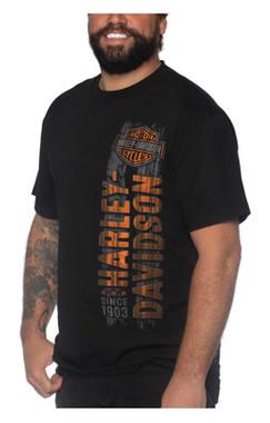 Harley-Davidson Men's Straight Up Short Sleeve Crew-Neck Cotton T-Shirt, Black - Wisconsin Harley-Davidson