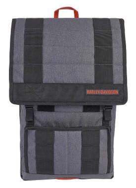 Harley-Davidson Commuter H-D Slim Flap Closure Backpack - Heather Gray - Wisconsin Harley-Davidson