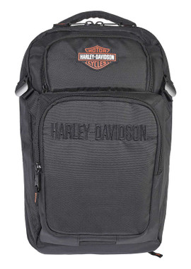 Harley-Davidson Everything B&S Water-Resistant Polyester Backpack - Black - Wisconsin Harley-Davidson