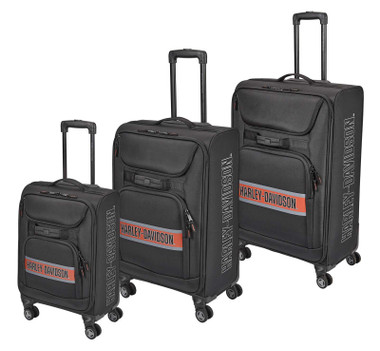 Harley-Davidson Trailblazer Multi-Pocket Wheeled Travel Luggage - Rust Vintage - Wisconsin Harley-Davidson