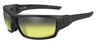 Harley-Davidson Men's Jet Yellow Lens LA Light Sunglasses - Matte Black Frames - Wisconsin Harley-Davidson