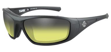 Harley-Davidson Men's Tank Yellow Lens LA Light Sunglasses - Matte Black Frames - Wisconsin Harley-Davidson