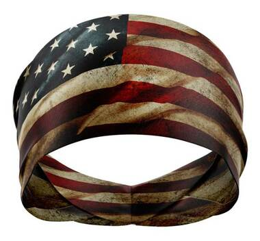 That's A Wrap Unisex Old Glory Versatile Multi-Function Do Band - Red/White/Blue - Wisconsin Harley-Davidson