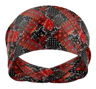 That's A Wrap Women's Patch Me Up Versatile Multi-Function Do Band - Red/Black - Wisconsin Harley-Davidson