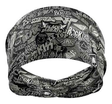 That's A Wrap Unisex Rock of Ages Versatile Multi-Function Do Band - Black/Gray - Wisconsin Harley-Davidson