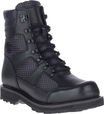 Harley-Davidson Men's Lensfield 7-Inch Black Motorcycle Boots, D93771 - Wisconsin Harley-Davidson