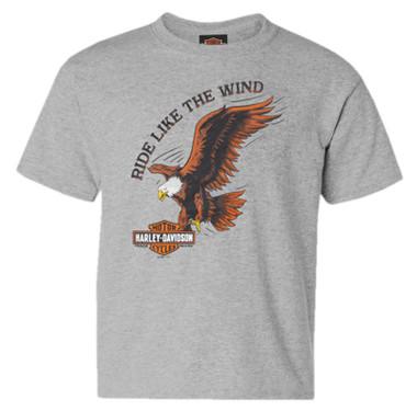 Harley-Davidson Boy's The Wind Eagle Short Sleeve Poly-Blend Toddler T-Shirt - Wisconsin Harley-Davidson