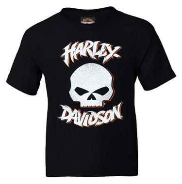 Harley-Davidson Boy's Wild Child Short Sleeve Cotton Tee, Toddler & Youth, Black - Wisconsin Harley-Davidson