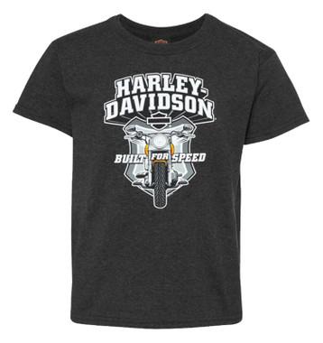Harley-Davidson Boy's Full Tilt Bike Short Sleeve Poly-Blend Toddler T-Shirt - Wisconsin Harley-Davidson