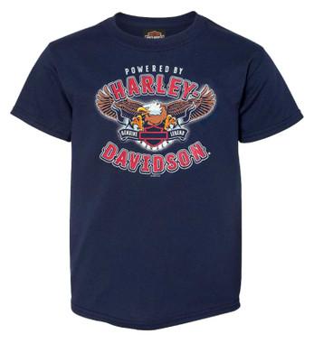 Harley-Davidson Boy's Look Out Short Sleeve Cotton Toddler T-Shirt, Navy Blue - Wisconsin Harley-Davidson