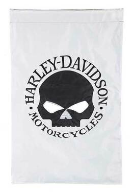 Harley-Davidson Willie G Skull Reversible Applique Flag-Black/White, 44 x 28 in. - Wisconsin Harley-Davidson