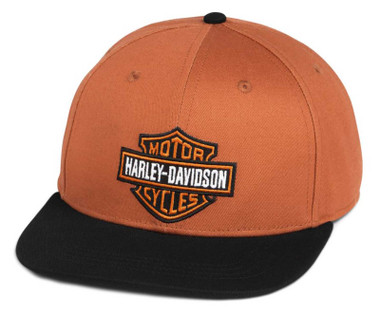 Harley-Davidson Men's Bar & Shield Adjustable Baseball Cap, Orange 97700-21VM - Wisconsin Harley-Davidson