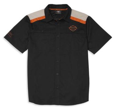 Harley-Davidson Men's Performance Vented Back Colorblocked Shirt 96042-22VM - Wisconsin Harley-Davidson