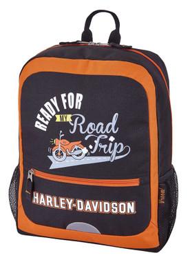 Harley-Davidson Kids' My Road Trip Padded Travel Backpack - 99847-RUST/BLACK - Wisconsin Harley-Davidson
