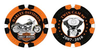 Harley-Davidson Limited Edition Series 9 Poker Chips Pack, Black & Orange 6709 - Wisconsin Harley-Davidson