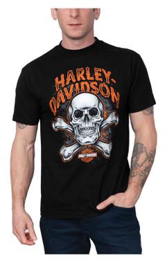 Harley-Davidson Men's Skull Squad Short Sleeve Crew-Neck T-Shirt - Black - Wisconsin Harley-Davidson
